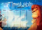 TIMETABLE LION KING